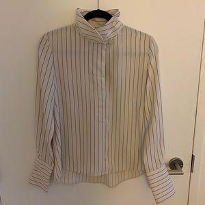 Aritzia Pin Striped Blouse